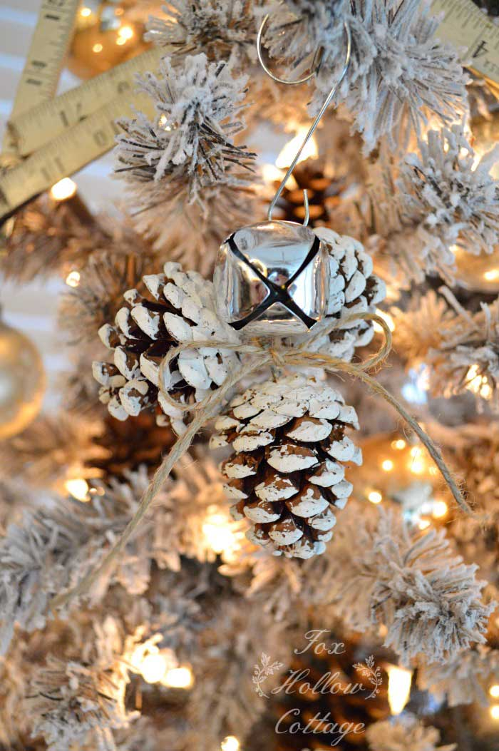 pinecone trio ornament