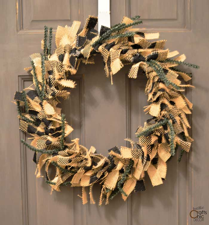 rag wreath - most profitable crafts to sell