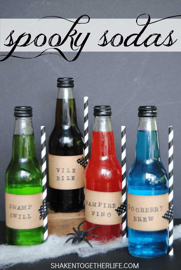spooky sodas for Halloween