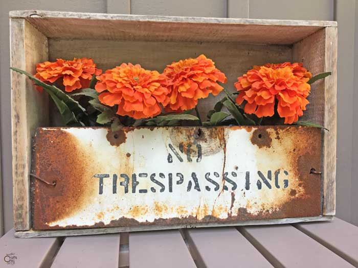 trash to treasure flower box craft