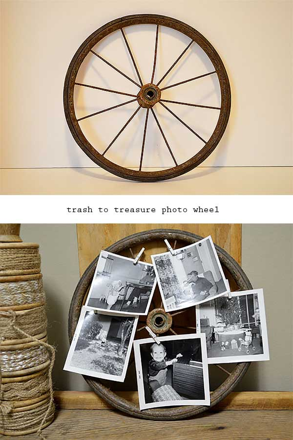 trash to treasure photo wheel