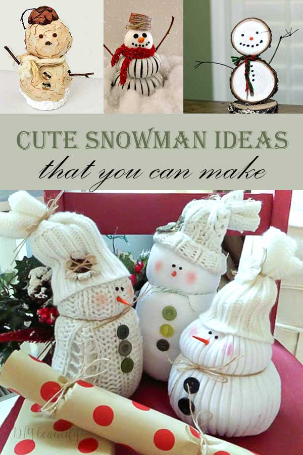 cute snowman ideas