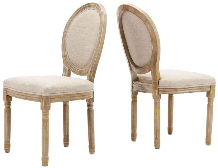 elegant tufted kitchen chairs