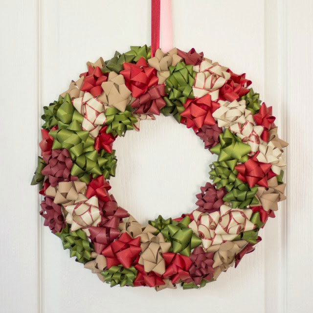 gift bow wreath