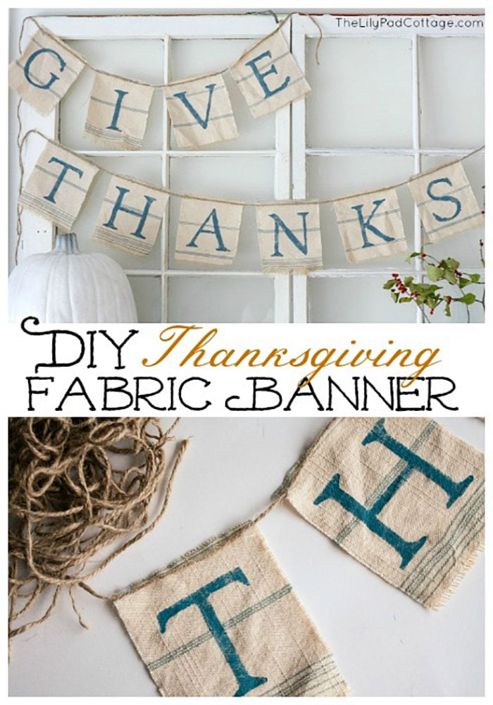 give thanks fabric banner