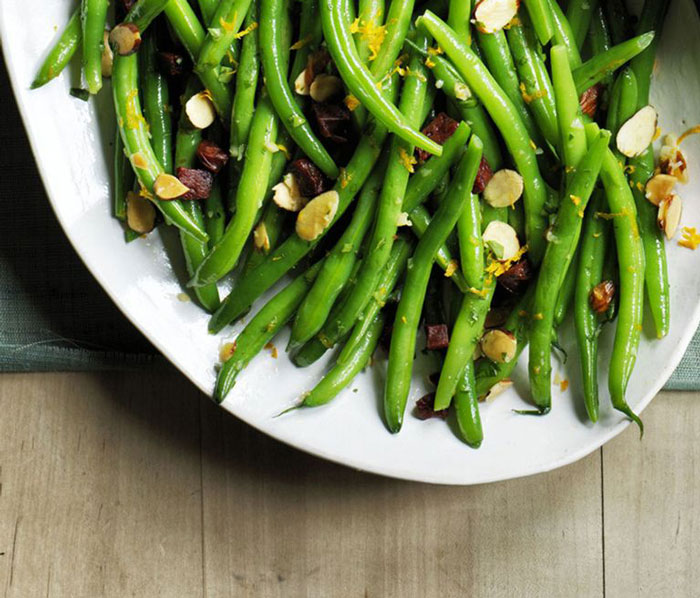 green beans with chorizo