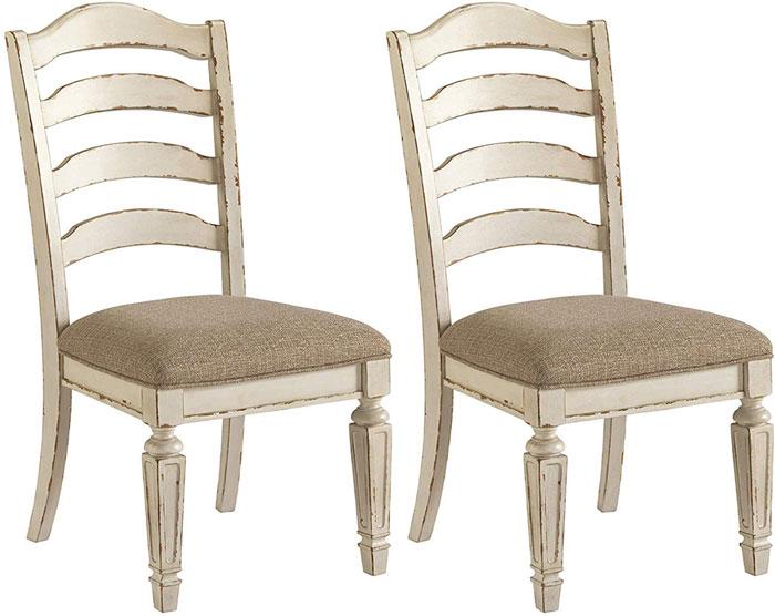 ladder back upholstered seat