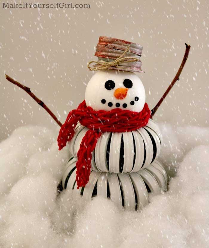 mason jar snowman idea