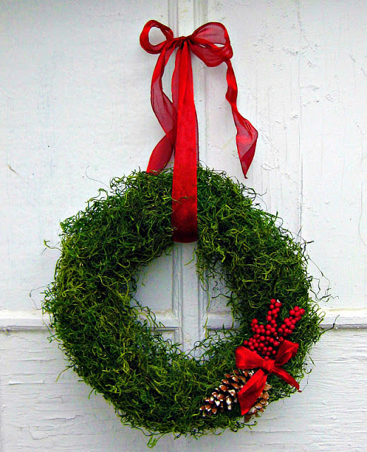 moss christmas wreath