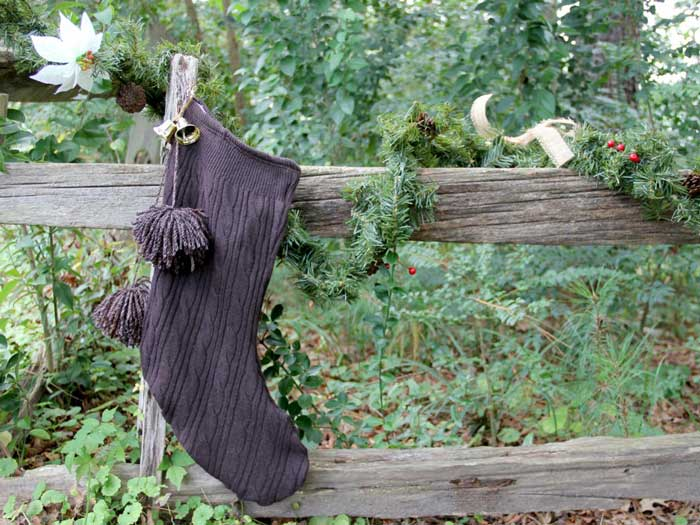 recycled sweater stocking idea