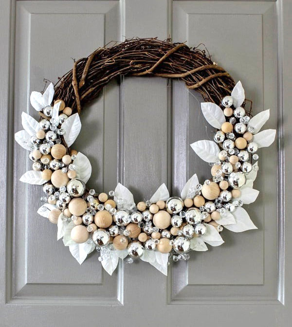 rustic glam wreath