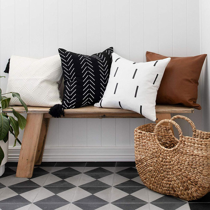 rustic throw pillow covers