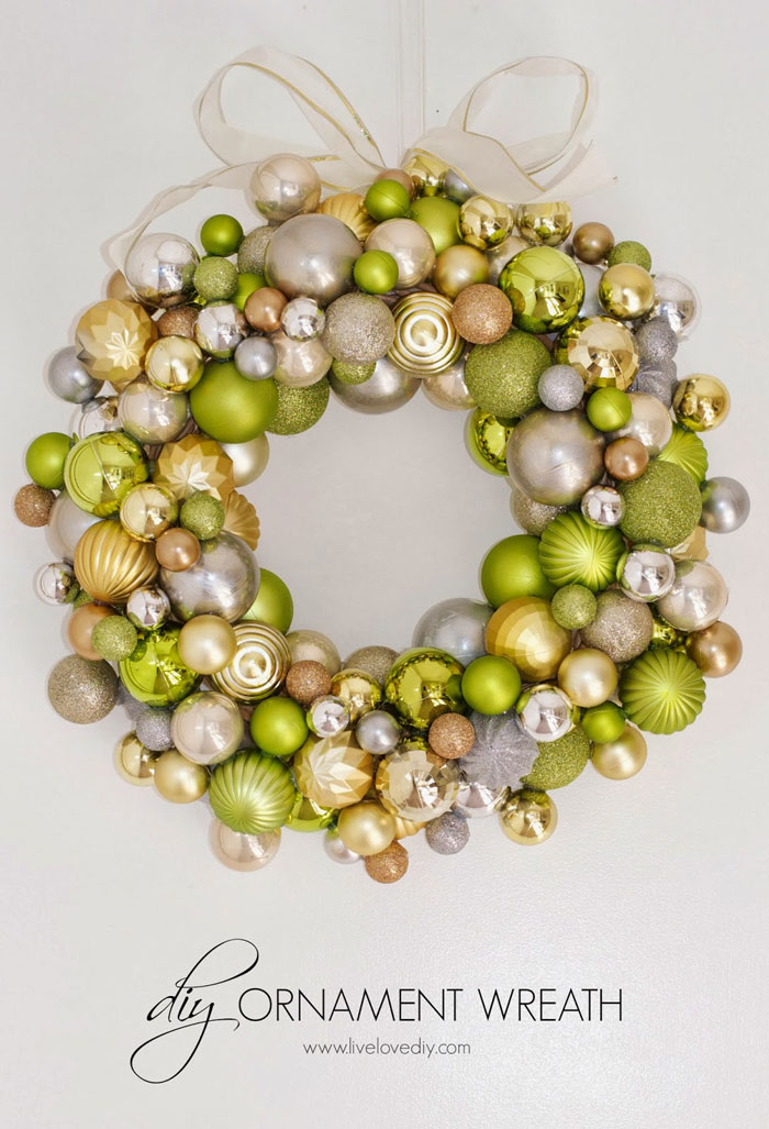 shiny ornament christmas wreath