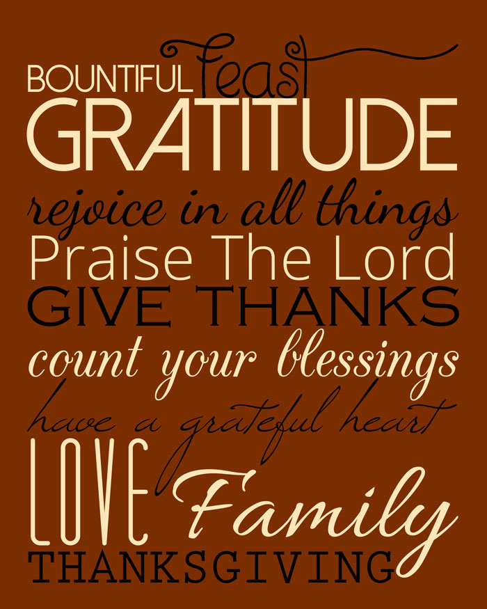 thankful subway art printable