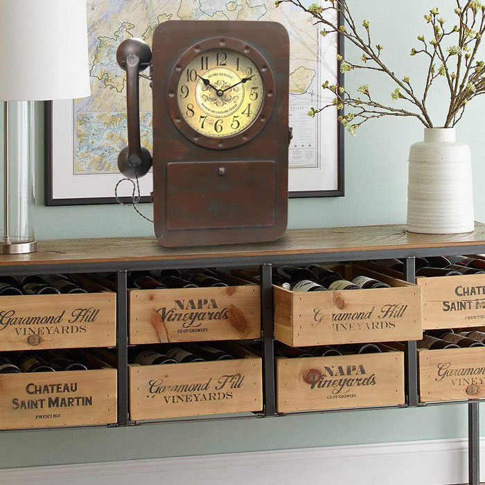 vintage iron tabletop clock