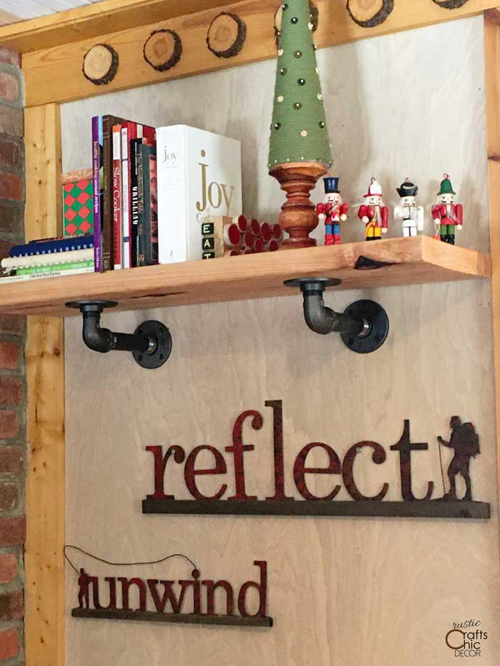 cookbook shelf with bookend