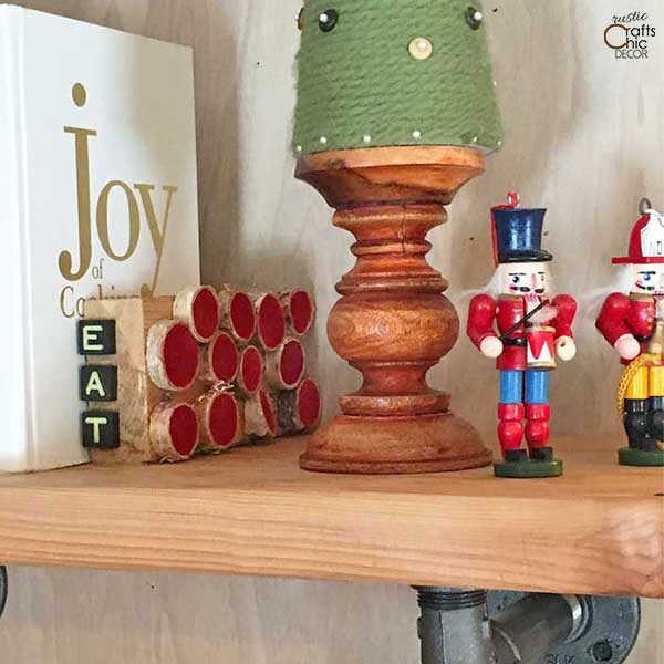 whimsical rustic bookend
