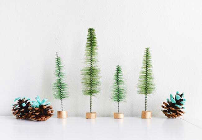diy bottle brush tree