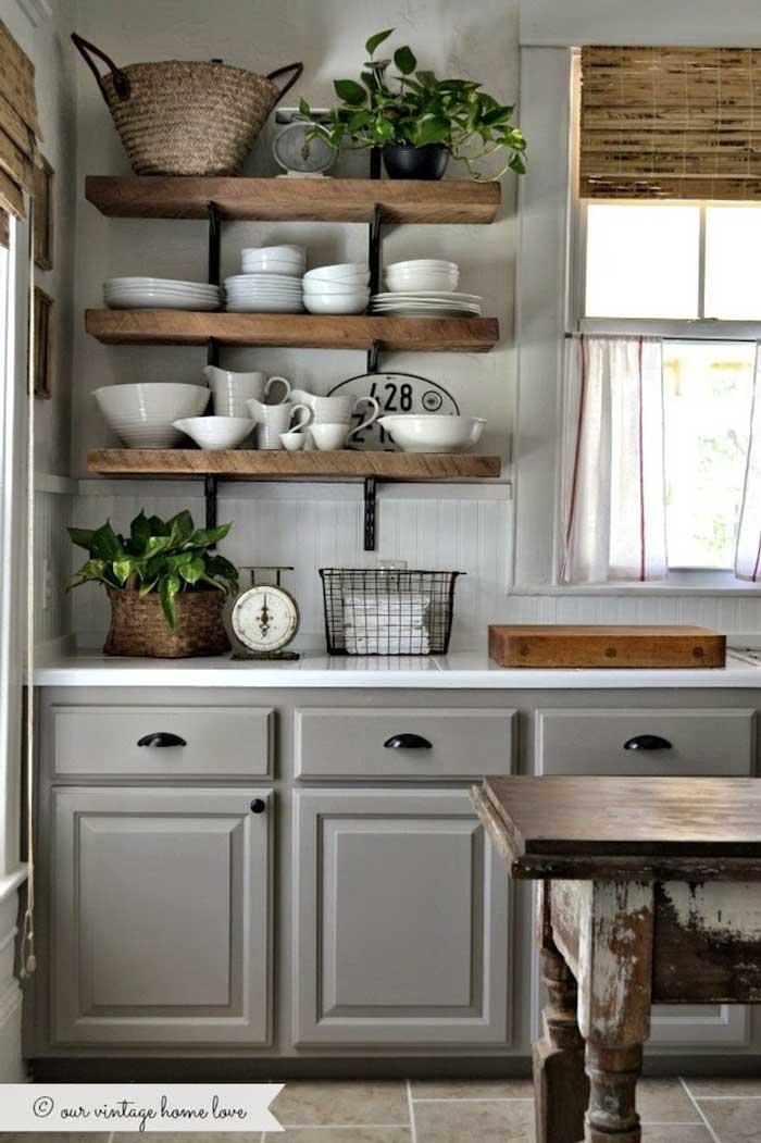 dramatic gray kitchen cabinets