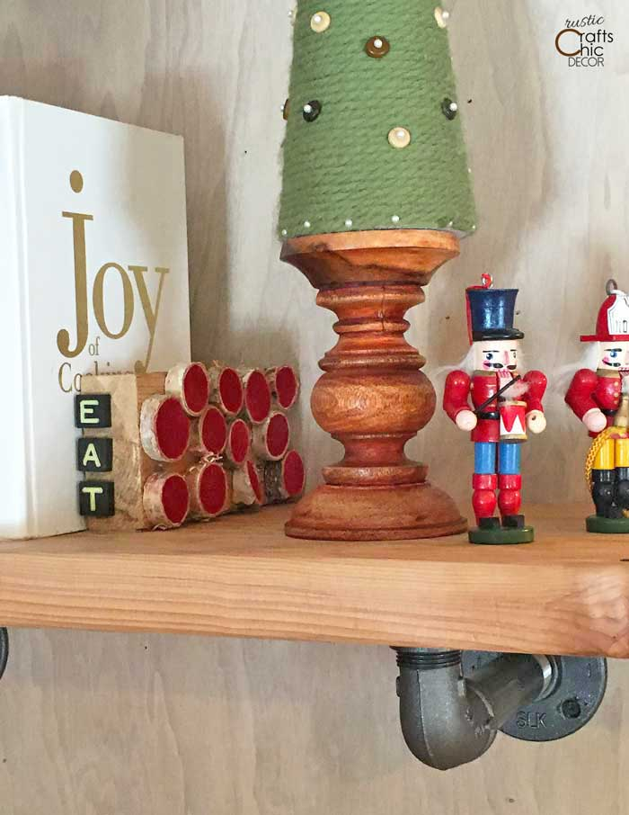 rustic bookend for cookbooks