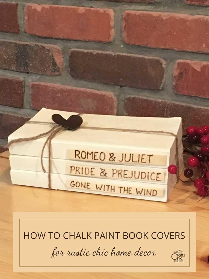 chalk paint old books