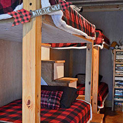 diy rustic decor bunk beds