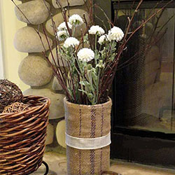 diy grainsack vase