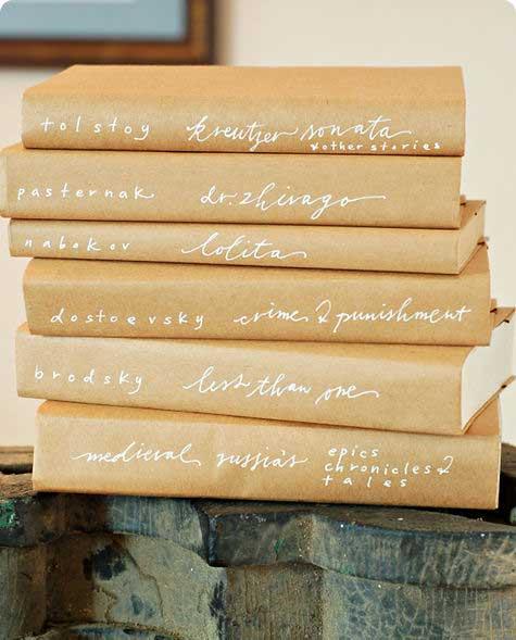 diy rustic book covers