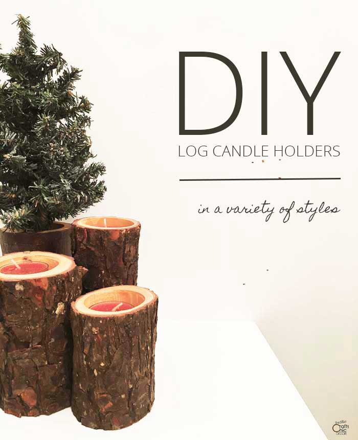 diy rustic candle holders