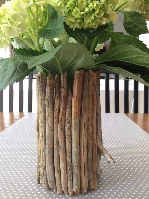 diy branch jar vase