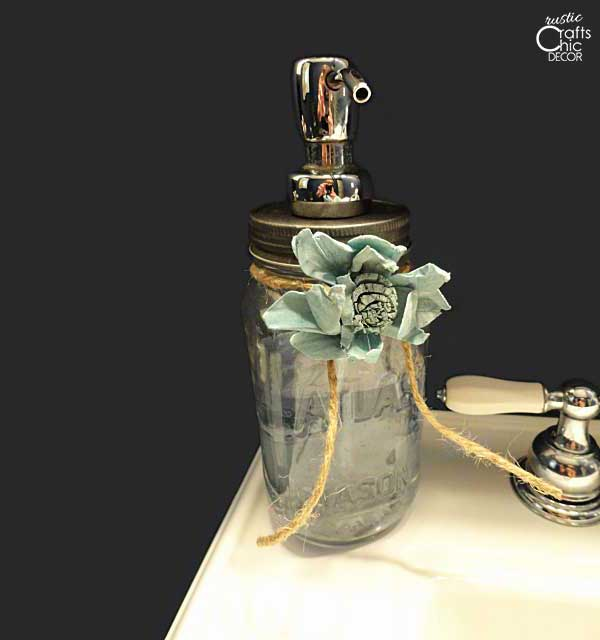 old mason jar soap dispenser