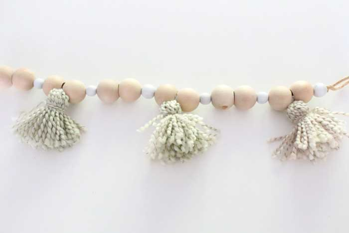 wooden bead garland 5 minute craft