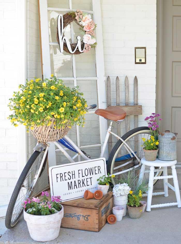 bike basket planter
