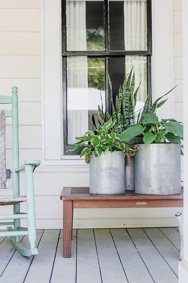 porch container garden