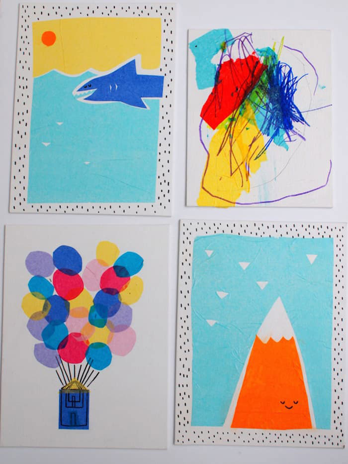 easy art projects with tissue paper