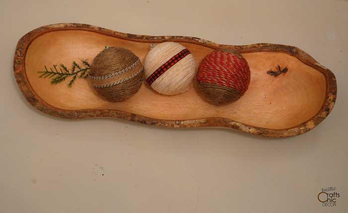 DIY twine vase filler balls