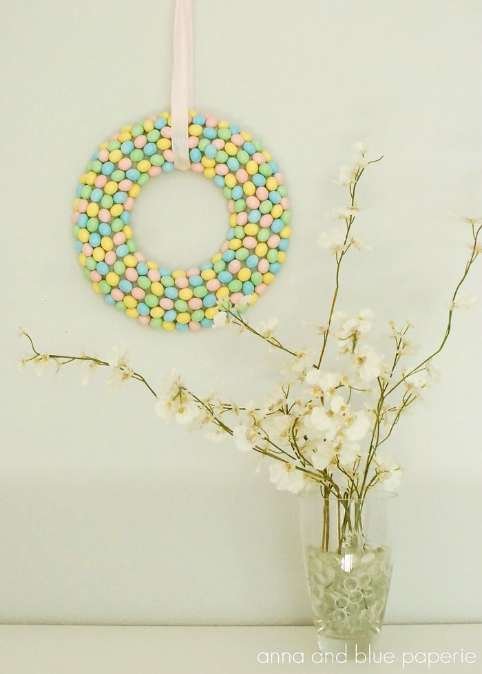 easter diy candy wreath