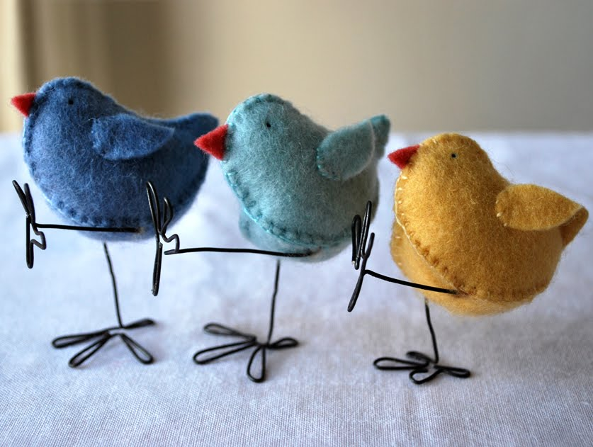 felt easter chicks