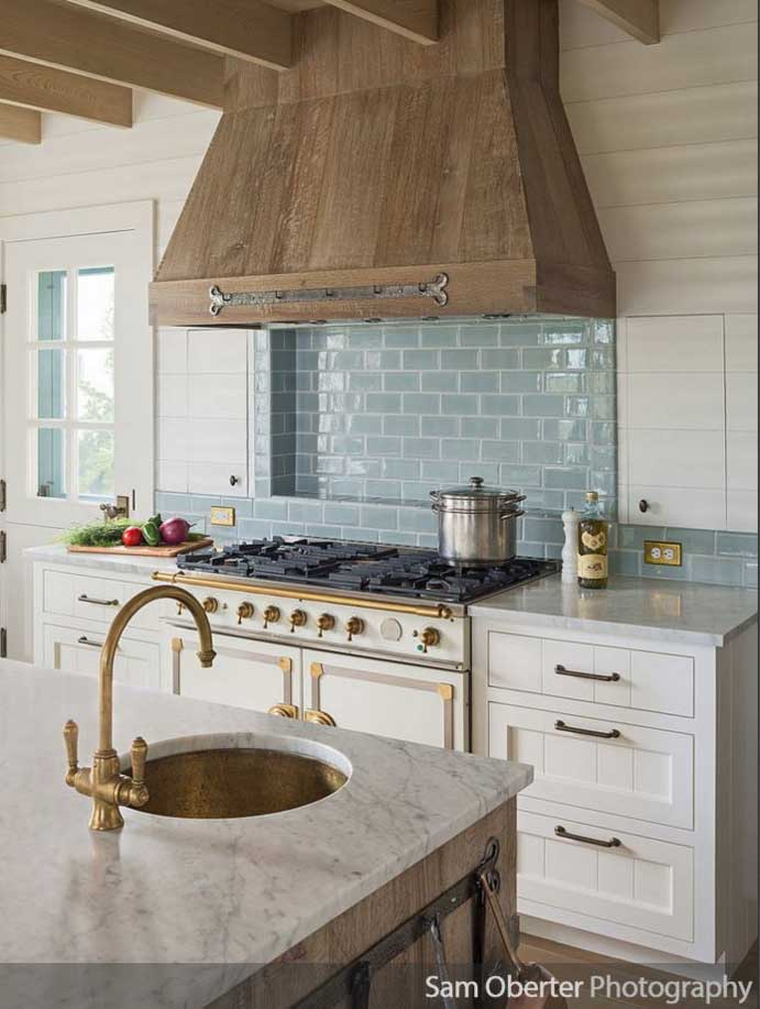 glamorous metallics in a kitchen