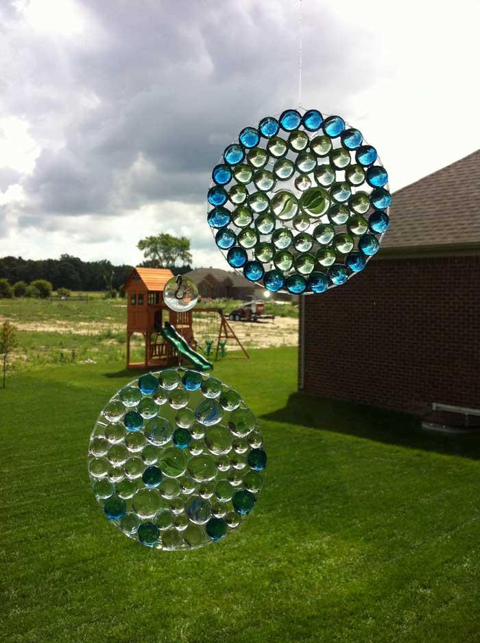 glass marble sun catcher