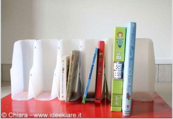milk jug book holders