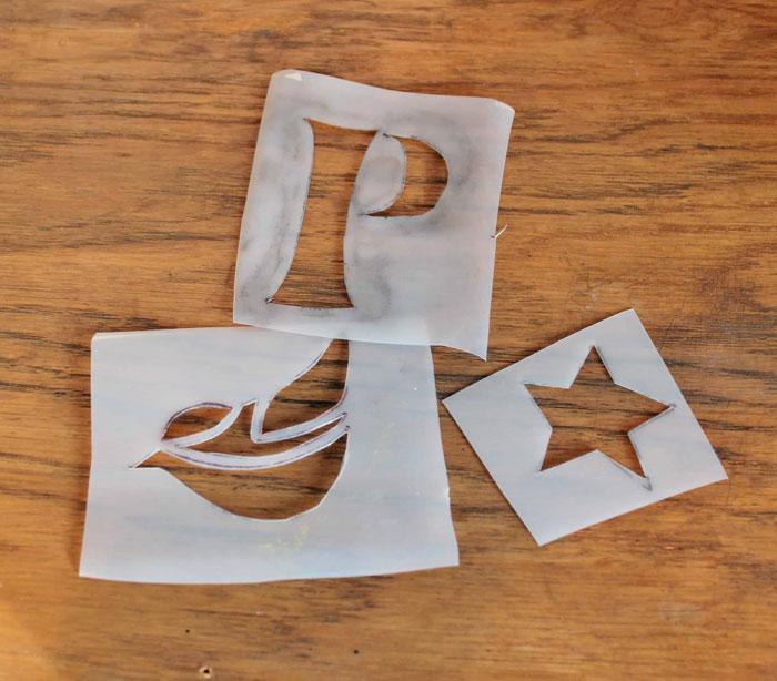 milk jug stencils