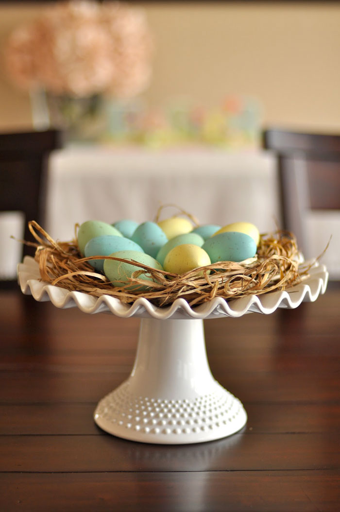 nest of eggs centerpiece