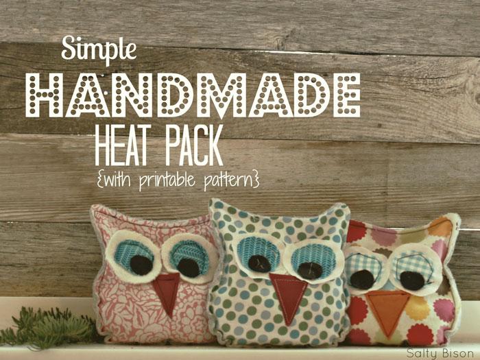 owl handmade heat pack