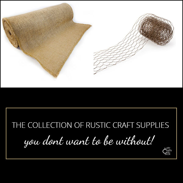 rustic craft supplies