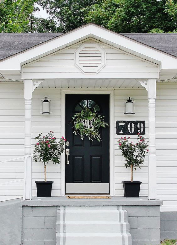 simple porch plants