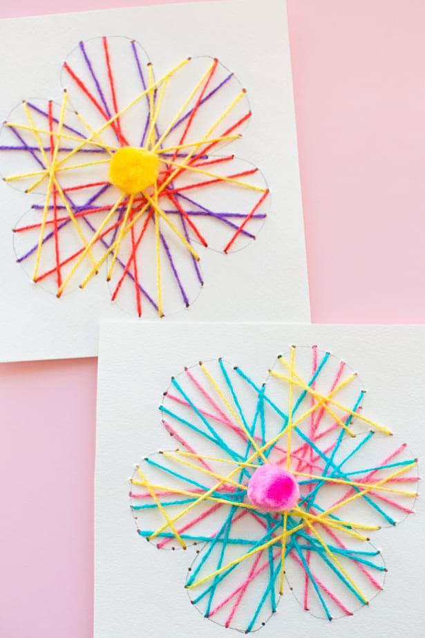 string art flowers
