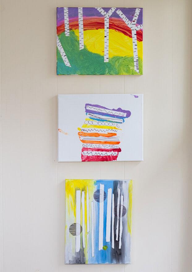 tape resist paintings for kids