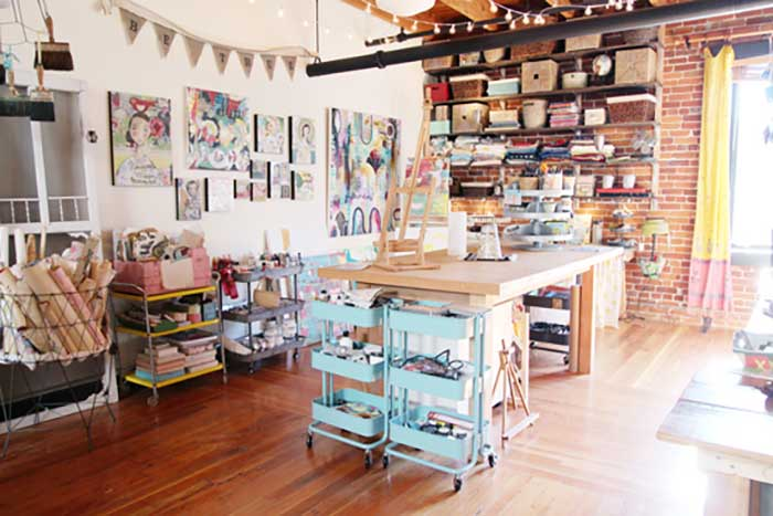 vintage style creative space