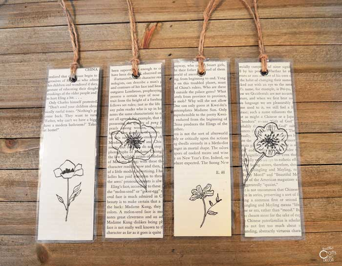 Spring book page bookmark